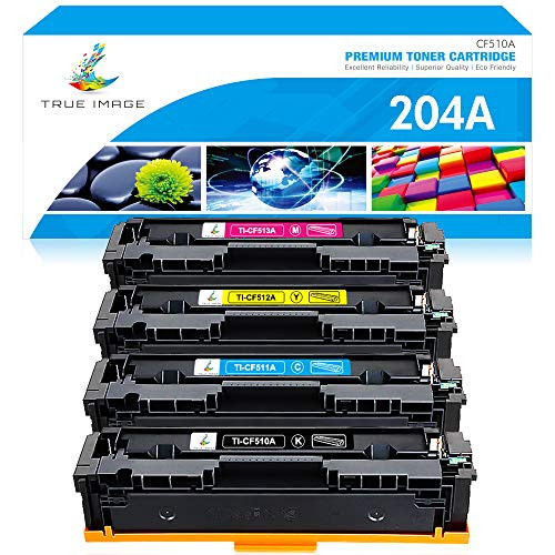 True Image Compatible Toner Cartridge Replacement for HP 204A CF510A Color Laserjet Pro MFP M180nw M154nw M180n M154a MFP M181fw CF511A CF512A CF, 본문참고