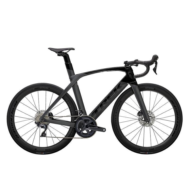 TREK Trek MADONE SL 6 DISC 탄소 섬유 디스크 브레이크 서스펜션 경쟁 등급 공압 도로 자전거, 리튬 그레이  블랙 60cm