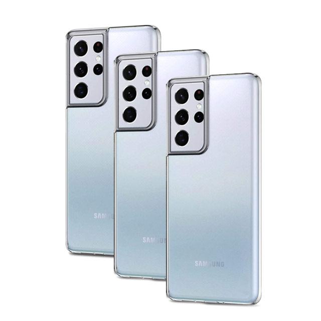 넥스트모바일 갤럭시 S21 S21플러스 S21울트라 투명 실리콘 핸드폰 보호 케이스 1+1+1