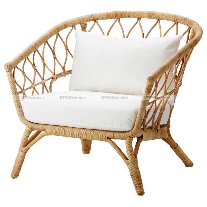 원목 라탄 등나무 스튜디오 소품 인테리어 아파트 거실 침실 의자, 다른, 작은 커피 테이블 강화 유리