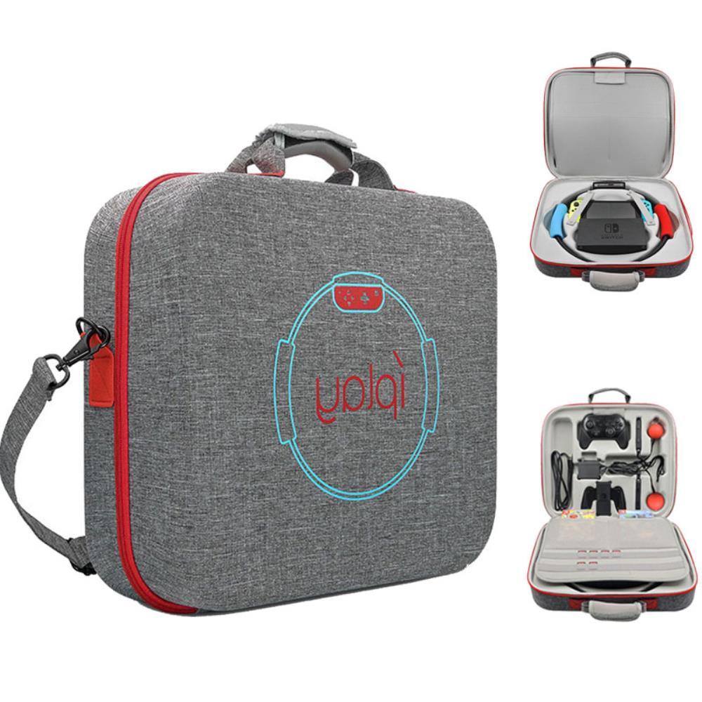 해외직구 닌텐도 스위치 휴대용 링핏 가방 크로스백 다기능 EVA 피트니스 링 베이스 스토리지 커버
