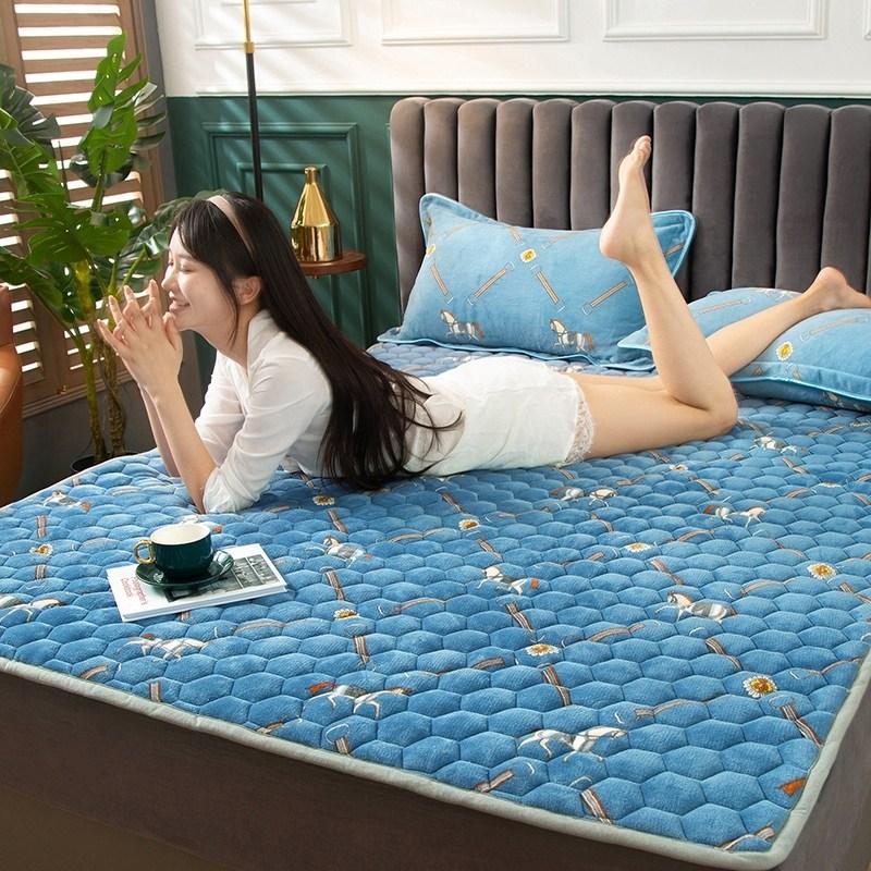 토퍼 템퍼 매트리스 침구 기타 겨울 기모 쿠션 학생 기숙사 싱글 담요 침대, AK_1.2 X 2m