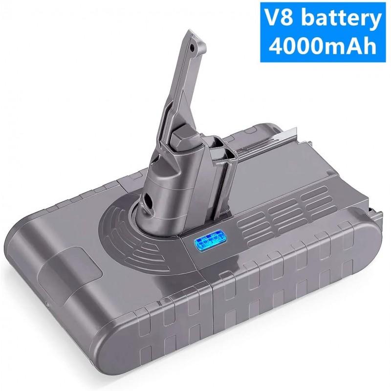 21.6V 4000mAh 리튬 이온 교체 용 Dyson V8 배터리 업그레이드 Dyson V8 Absolute Animal 무선 진공 핸드 헬드 클리너 : 가정, 단일옵션