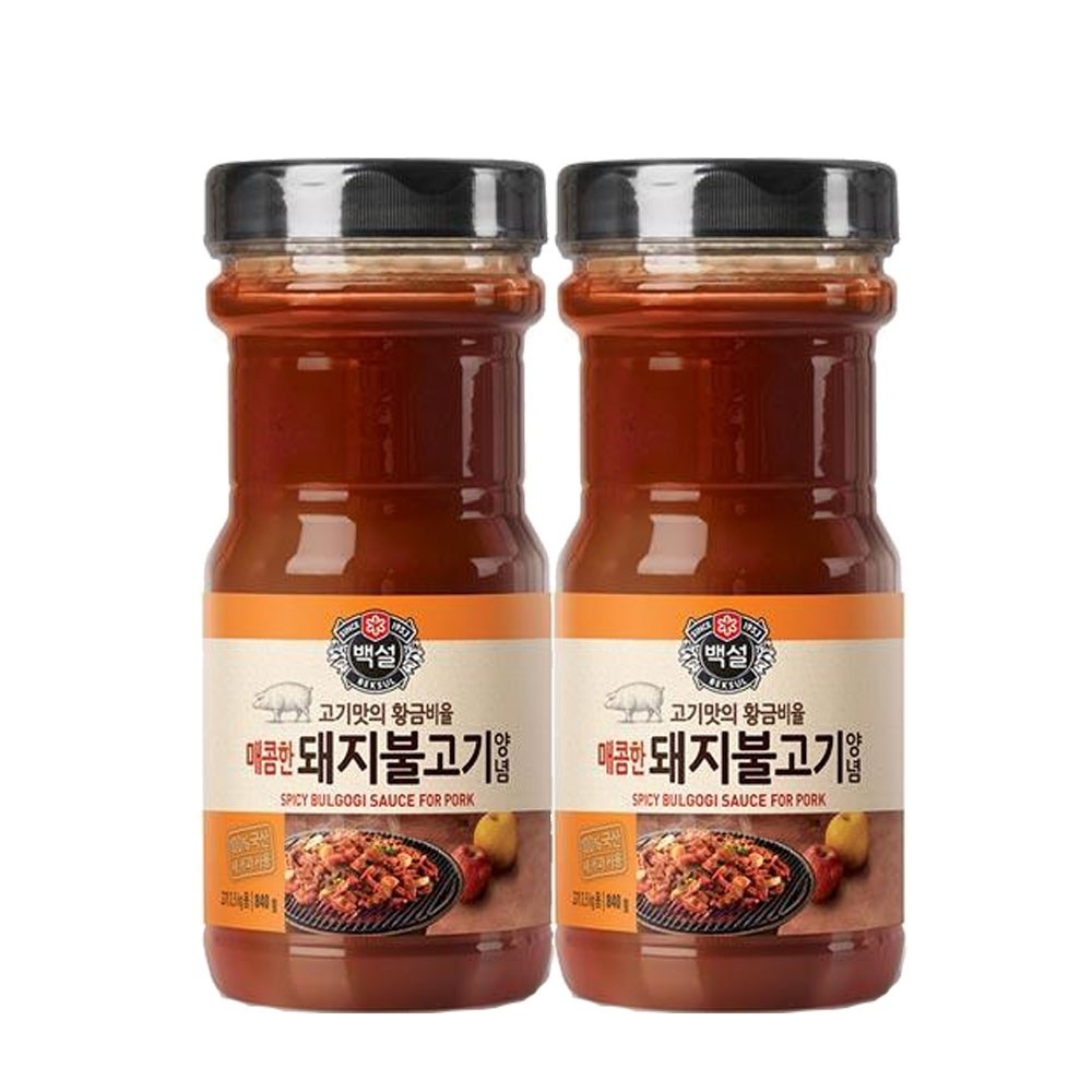 (상온)백설 매콤한 돼지불고기양념840gx2개, 1세트
