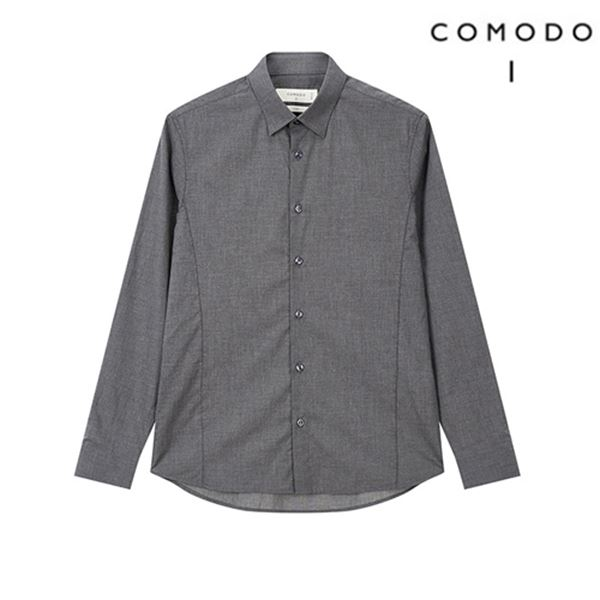 COMODO 코모도 다크그레이 모던 슬림 라인 셔츠