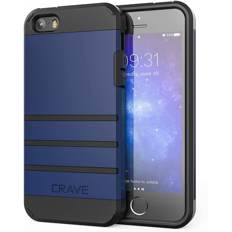 iPhone SE [2016] (1 세대) Case iPhone 5s Case iPhone 5 5s SE-Crave Strong Guard Protection Series Case-네이비