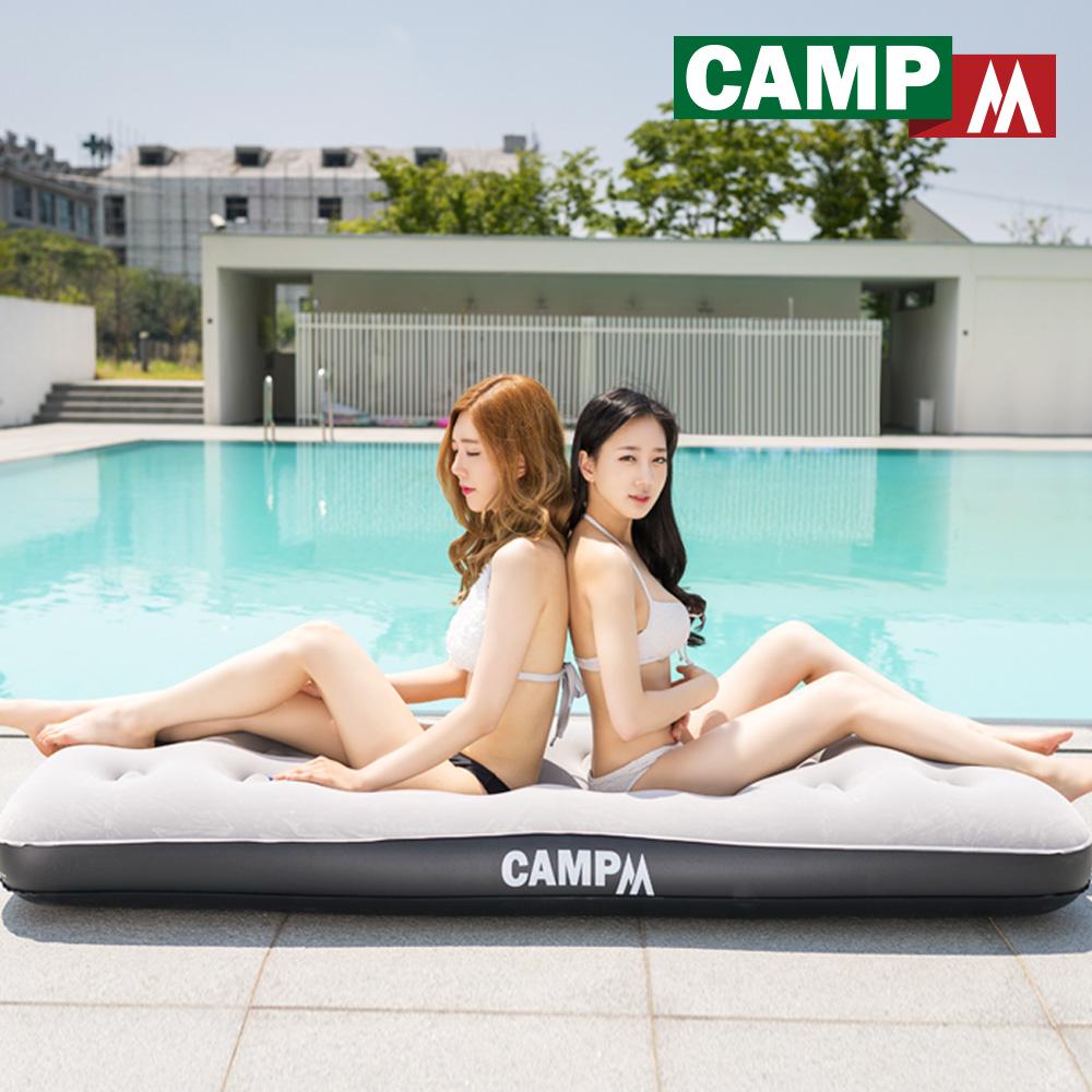 [캠프엠] 캠핑 에어 매트 퀸 두꺼운 매트리스 베드 침대 텐트 차량 용품 3 4 인용, 퀸size_에어매트