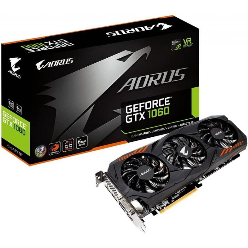 Gigabyte AORUS GeForce GTX 1060 6G REV 2.0 컴퓨터 그래픽 카드-GV-N1060AORUS-6GD REV2.0 : 컴퓨터 및 액세서리, 단일옵션