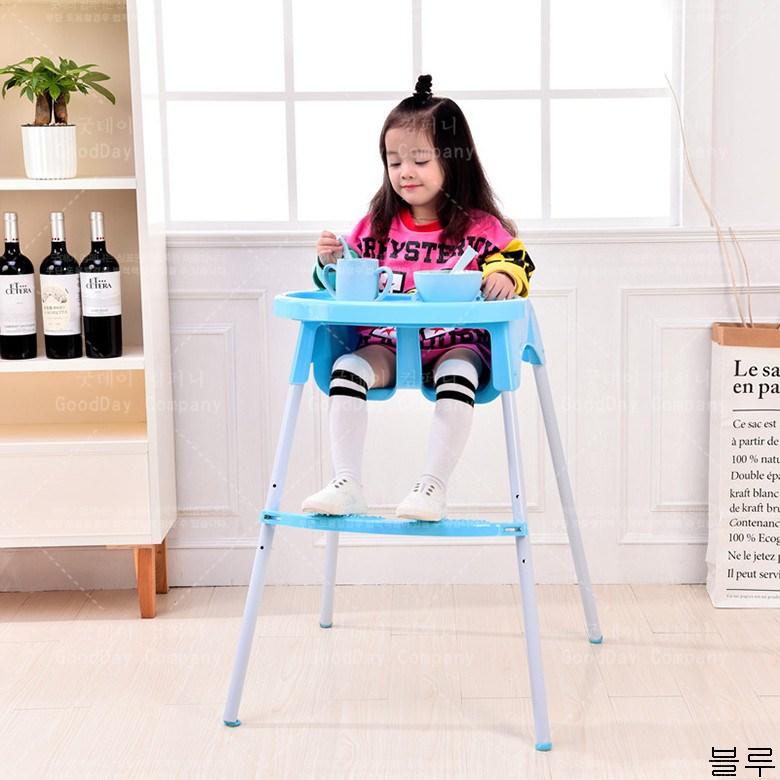 굿데이 컴퍼니 다용도 사랑스럽다 발편한 아기 등받이 의자 식탁 가정용 스툴 sY03, 블루