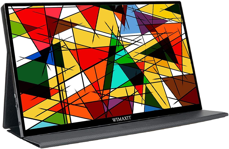 wimaxit 휴대용 터치 모니터 14 인치 98 srgb fhd ips 컴퓨터 외부의 게임 usb-c 디스플레이 화면 로 이중 type-c 미니 hdmi 를 노트북 pc xb, 기본 (POP 5663942170)