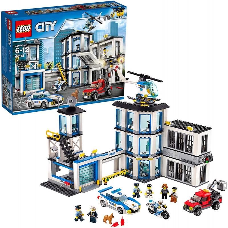 [추천]  경찰차 교도소 및 헬리콥터가 장착 된 레고 시티 경찰서 60141 빌딩 키트 소년 소녀들을위한 최고의 장 할인!!