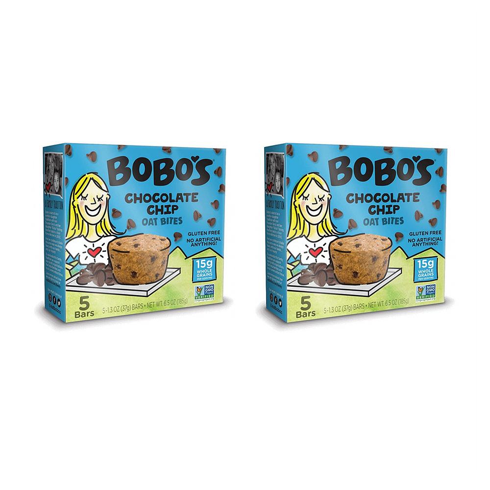 보보스 초콜릿 칩 오트 바이트 오리지널 5개입 185g 2팩 Bobos Original Chocolate Chips Oat Bites Original