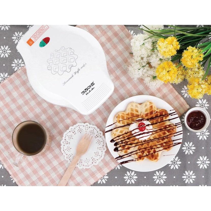 키친아트 크로플 와플 메이커 전기 와플팬 그릴 팬 와플 만드는 기계 길거리 와플 만들기 와플기, 와플 메이커/키친아트
