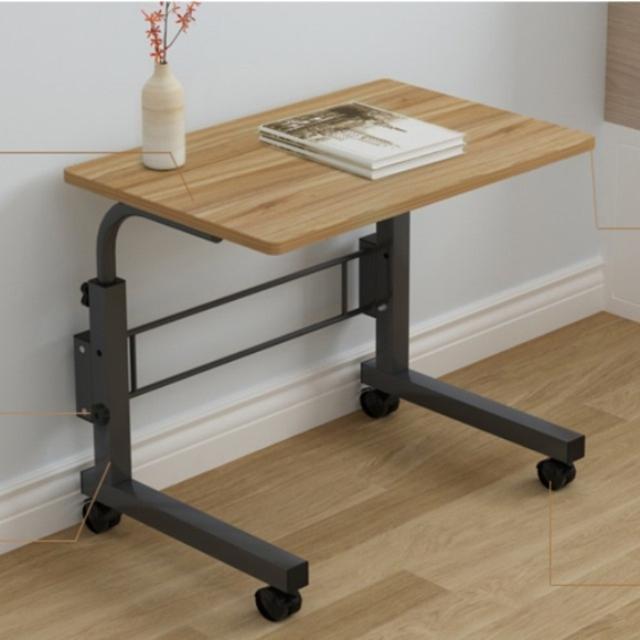 스탠딩 미니 사이드 책상 높이조절 원룸 거실 침대 밥상 노트북 테이블, 미니사이드-쿠키