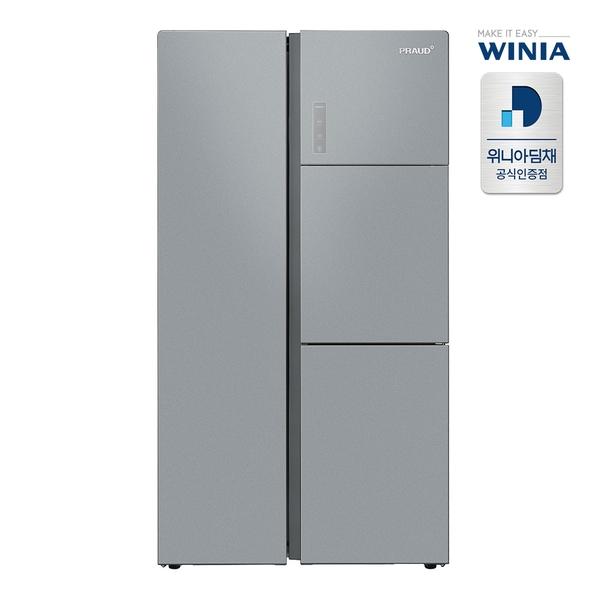 위니아 834L 양문형 냉장고 ERK839EJSS [스틸실버/분리보관형], 단일상품