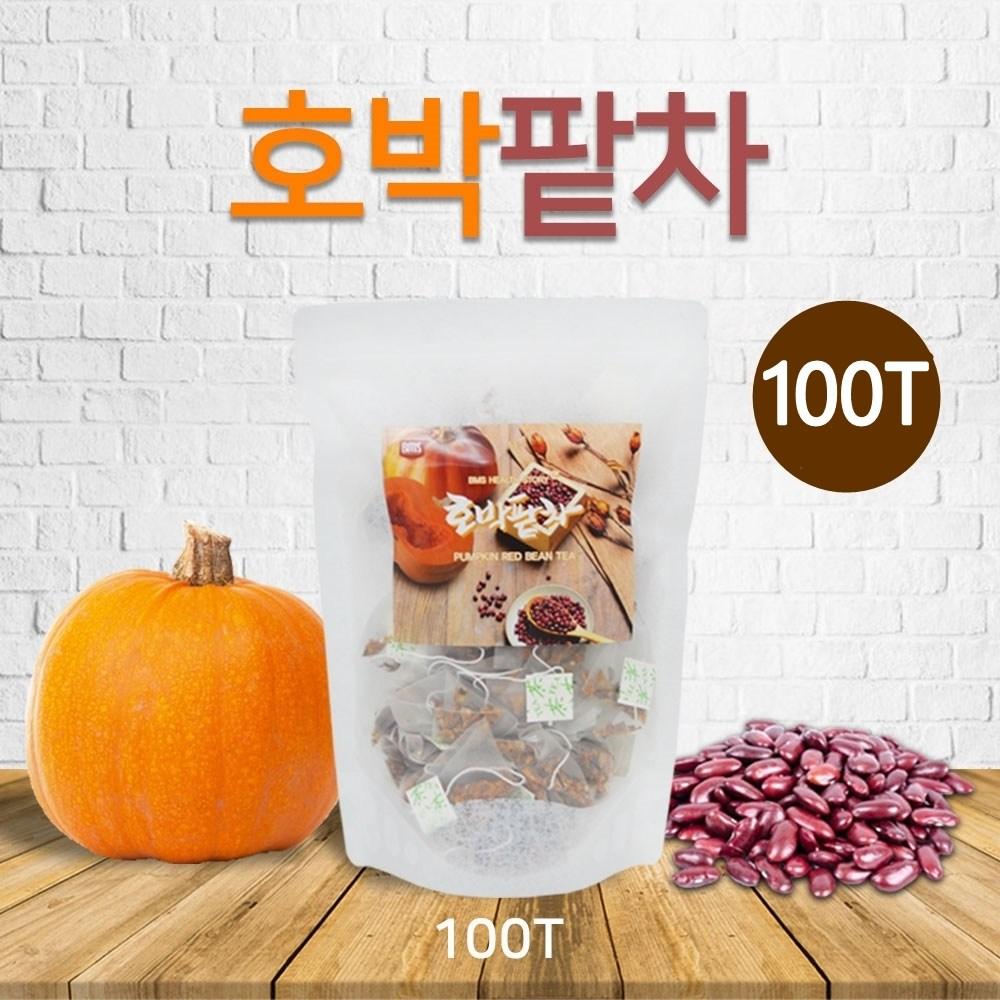 호박팥차 티백 늙은호박 팥 건호박 우엉 국산 100% 팥호박차 건강차 붓기 빼는, 100p