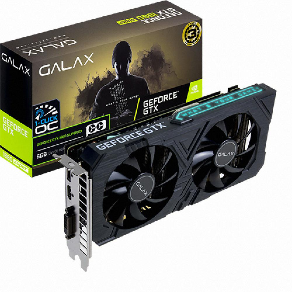 갤럭시 GALAX 지포스 GTX 1660 SUPER EX BLACK OC D6 6GB, 단일상품