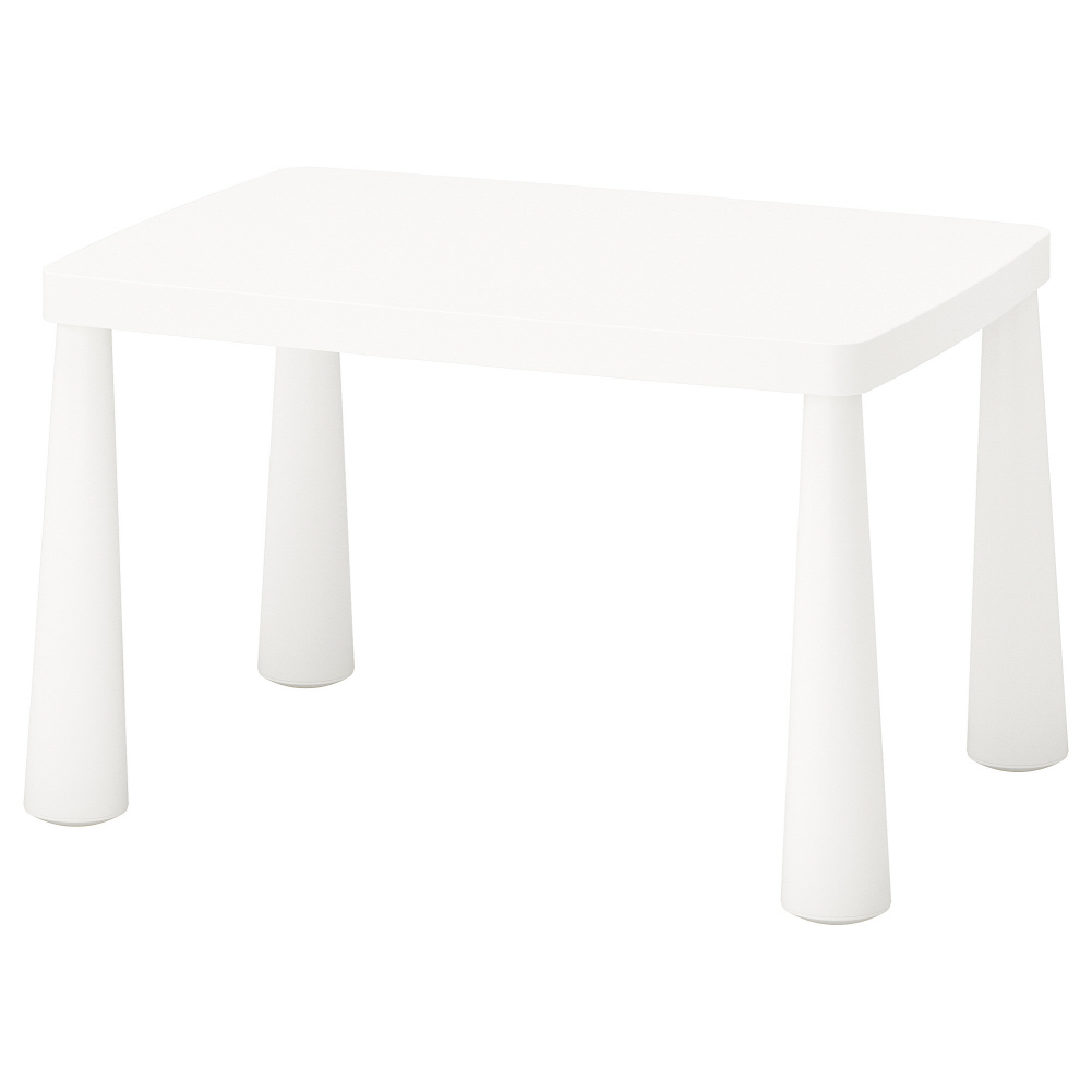 어린이테이블 실내외겸용 화이트 맘무트 77x55 cm, 기본