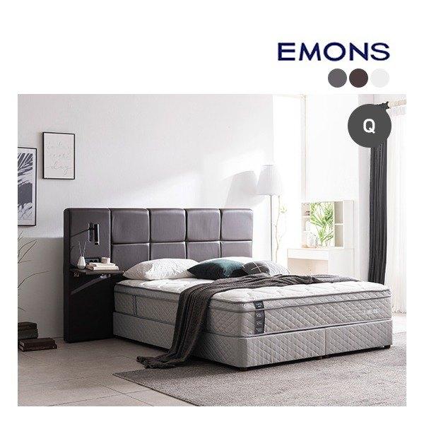 [에몬스] [퀸Q] 휴레스트 투매트리스 침대, 색상:그레이