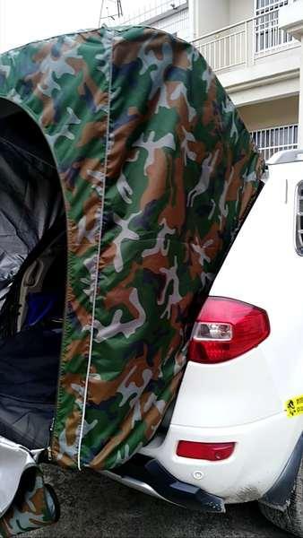 이효리 제주 속초 감성 카박 도킹 차량 후방 연결 차박하기좋은차 차박 텐트, 큰 꽃 위장