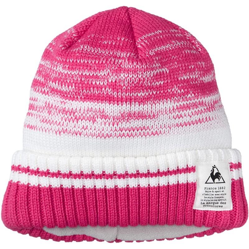 [르꼬끄 스 포르 티브] 니트 모자 간단한 스포츠 타운 부드러운 여성 QMCMJC64 비열한 인간들 핑크의 F (