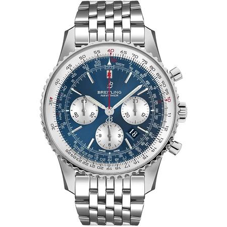 Breitling Navitimer 1 B01 Chronograph 46 Blue Dial Mens Watch AB0127211C1A1 PROD80005245