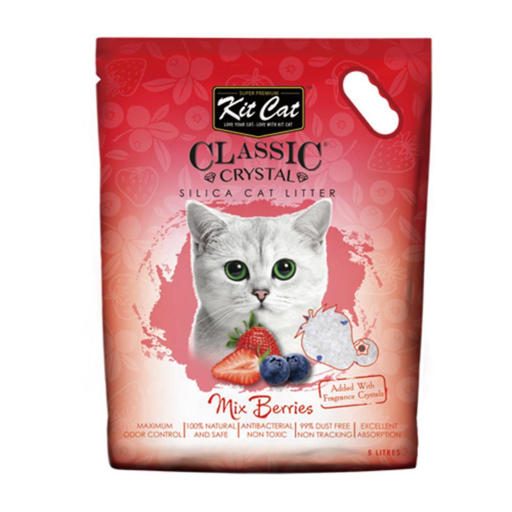 80 다루JJ / 킷캣 고양이모래 크리스탈 모래 딸기향5L 집사필수품 크리스탈 친환경모래 모찌네모래 크리스탈