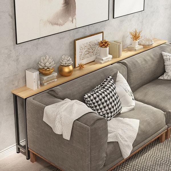 월드플렉스 한뼘테이블 좁고긴 틈새 사이드 홈바 침대 거실 바테이블, 옵션1) 100.20.75