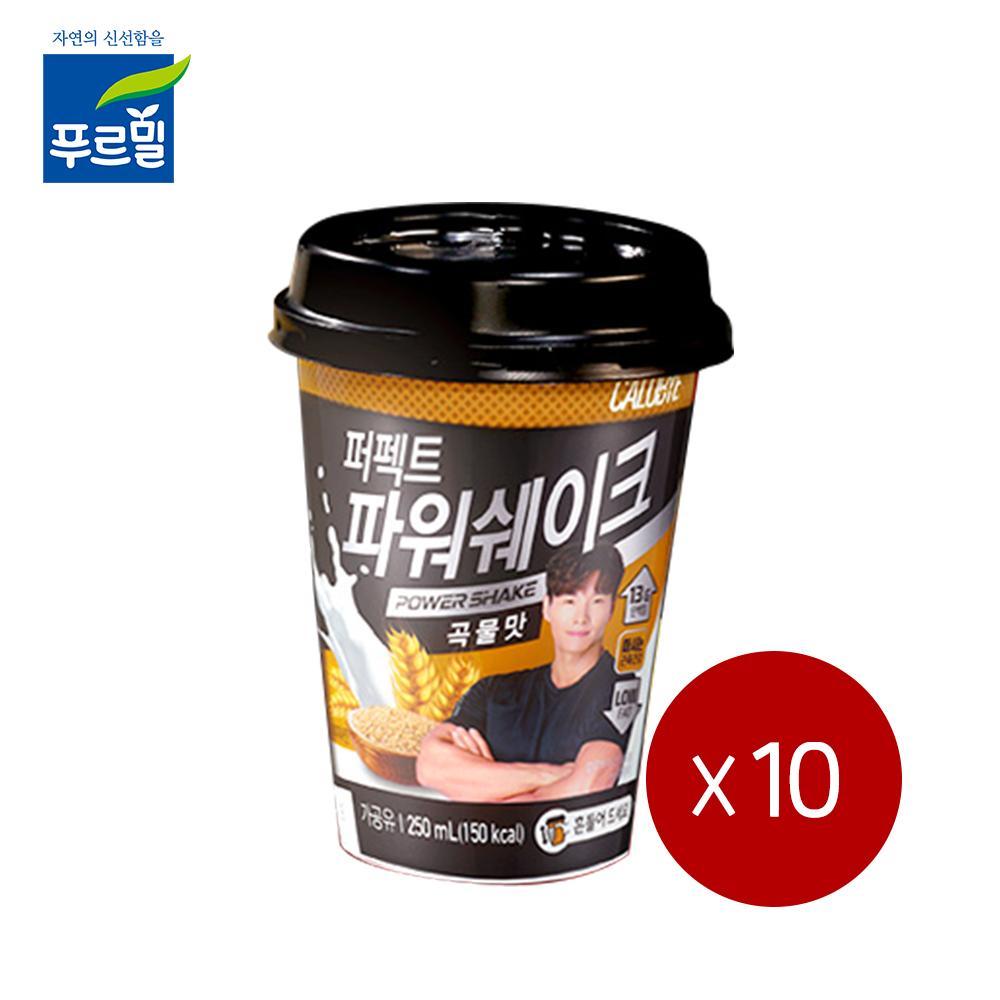 칼로바이 퍼펙트 파워쉐이크 곡물맛 250ml, 10개
