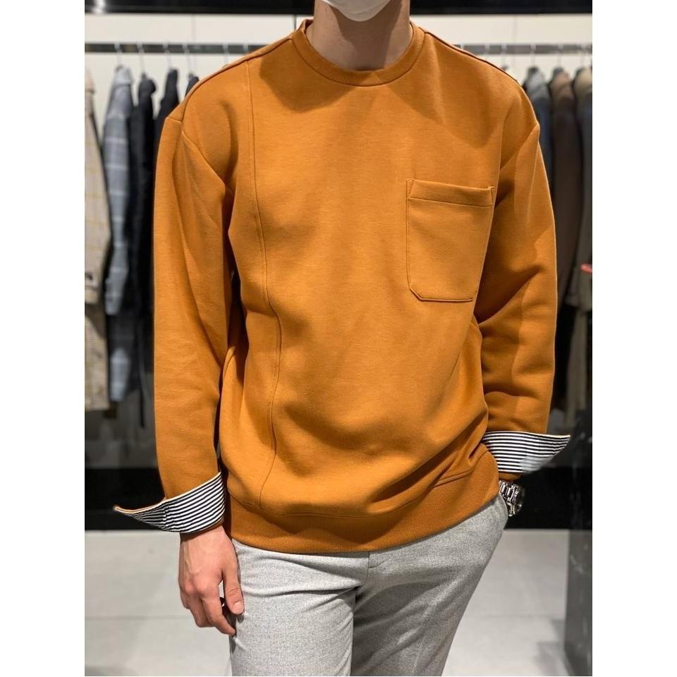 지오송지오 [지오송지오] AM 소매셔츠 배색 맨투맨 ZVW41777