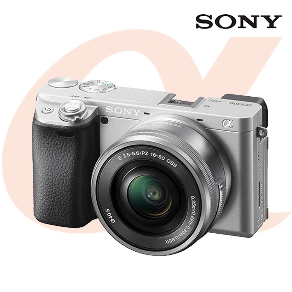 소니 알파 A6400 +SELP1650 렌즈 (A6400L) 공식대리점 미러리스카메라, A6400L(실버)