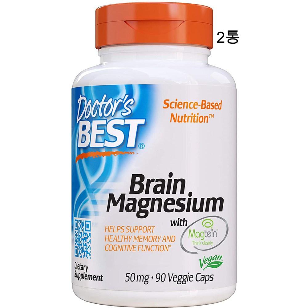 닥터스베스트 트레온산 마그네슘 50mg 90베지캡슐 x 2통 메그테인, 90캡슐