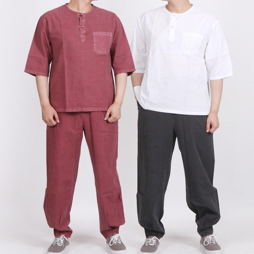 매듭우리옷 MM207_면 30수라운드 7부티+ 긴바지 (POP 27863965)