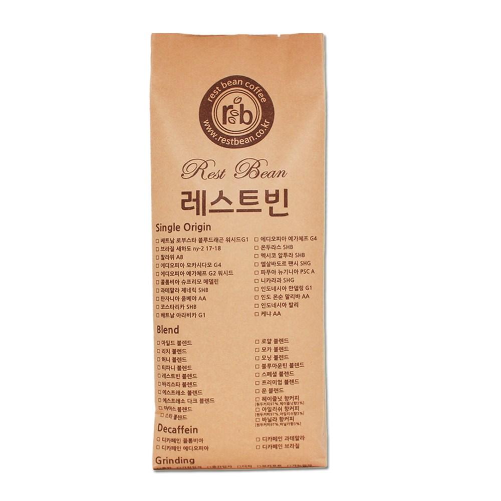 레스트빈 헤이즐넛 향커피 1kg, 원두콩(홀빈)