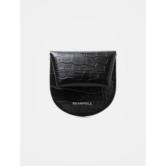 빈폴레이디스 블랙 파이톤 레더 동전 지갑 여성키지갑/키홀더
