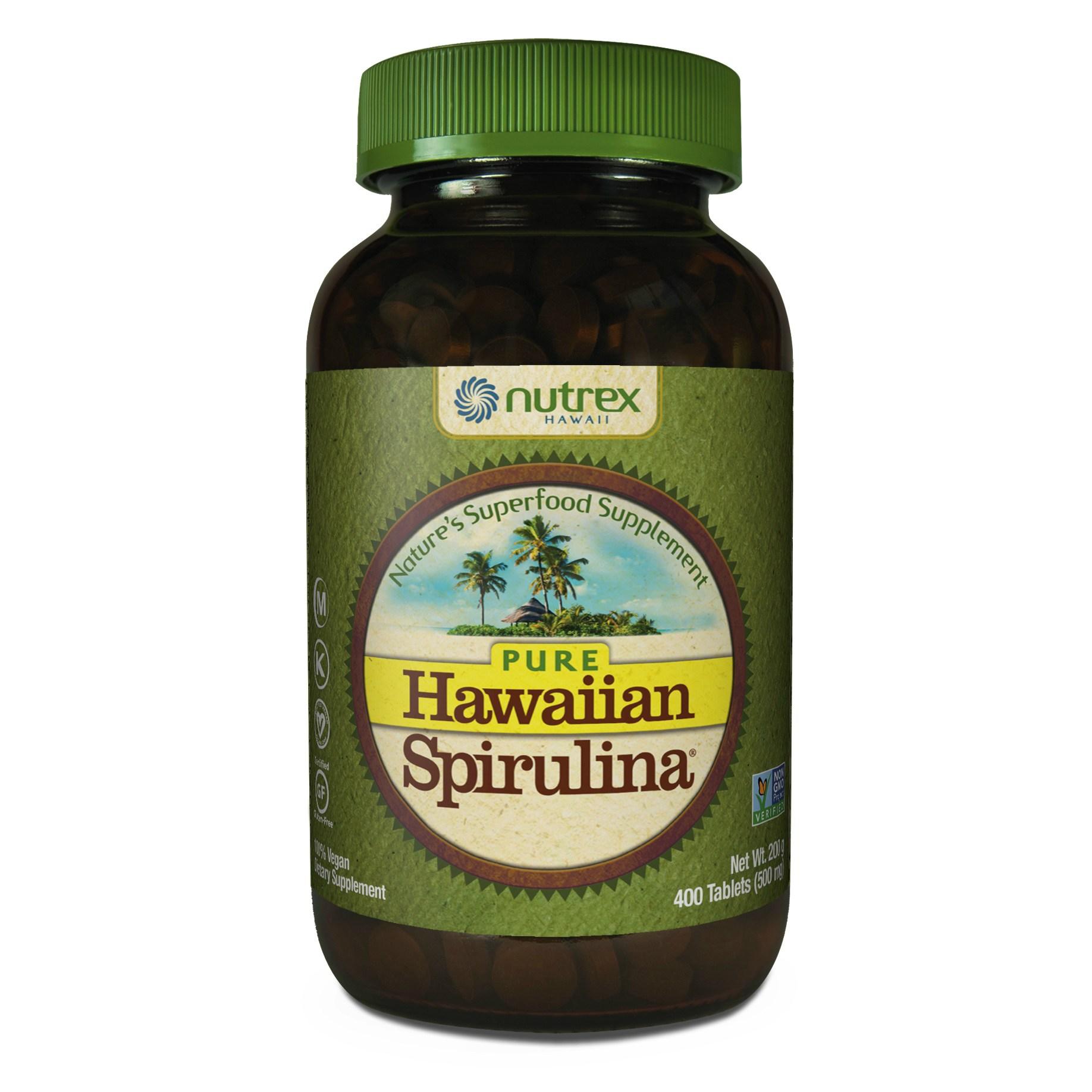 뉴트렉스하와이 퓨어 하와이안 스피룰리나 퍼시피카 500mg 타블렛, 400개입, 1개