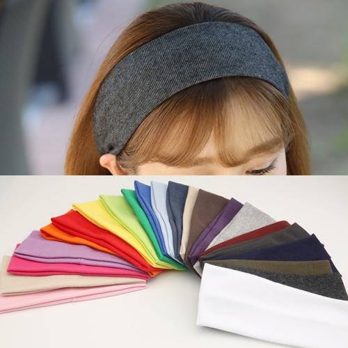 미스21 골지 면8cm 헤어밴드 남여공용 머리띠 (hb938) 23가지색상