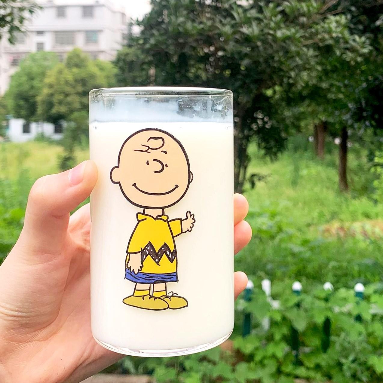 스누피프렌즈유리컵 5종 300ml, 1) 찰리