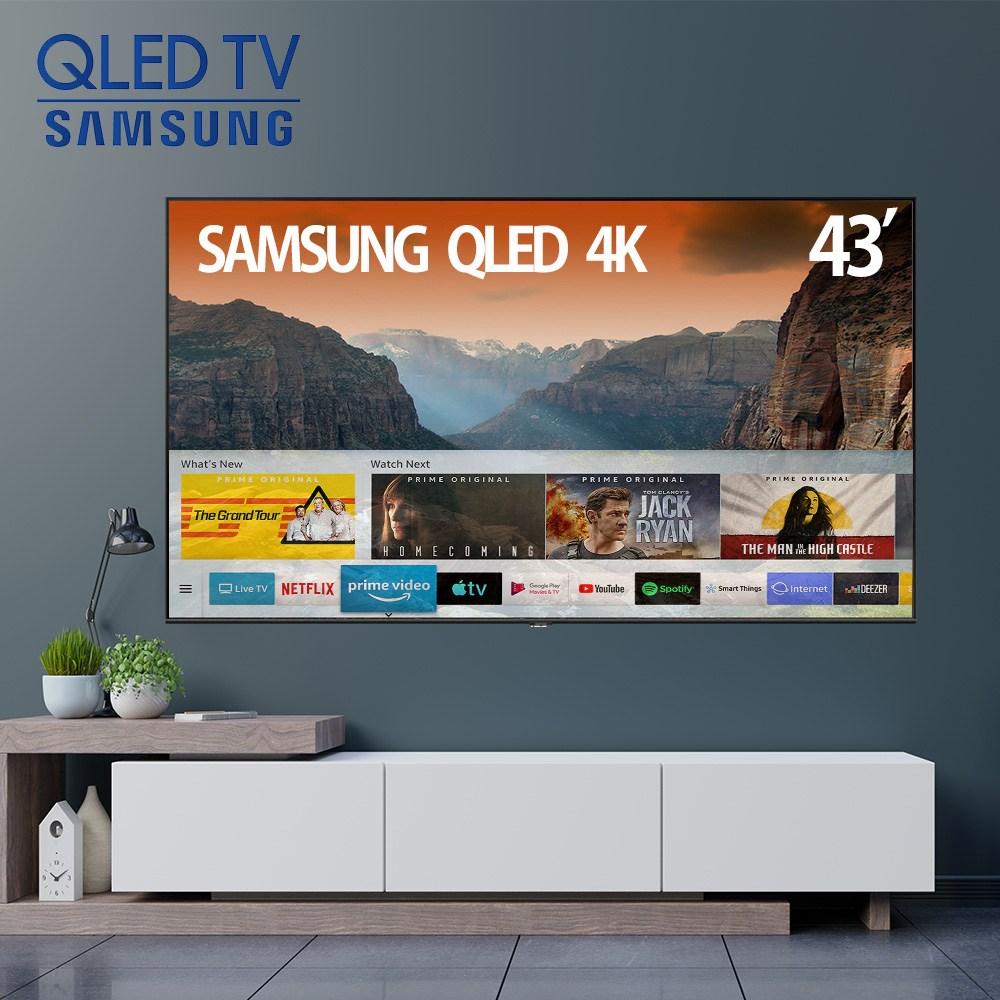 삼성전자 43인치 109cm 43Q60 QLED 4K UHD 스마트TV 로컬변경 무료 빠른설치 미사용 리퍼TV, 매장방문수령