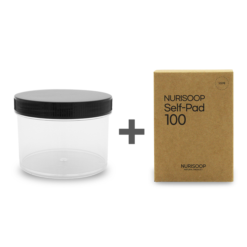 누리숲 백점 DIY 토너팩 키트(100점패드+공병) 화장솜 토너패드 솜