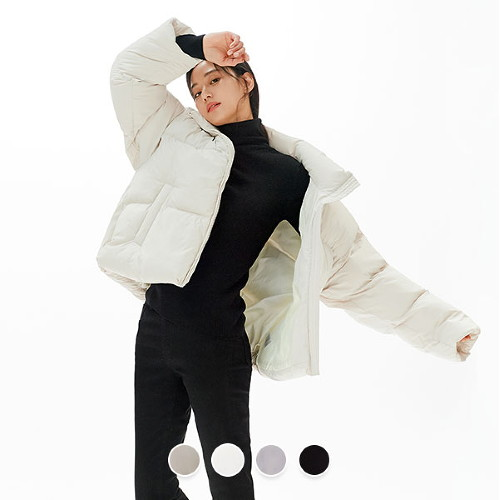 [지오다노]여 에코 다운 숏 푸파 자켓 370921
