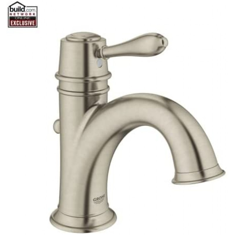 Grohe 23399 Fairborn 싱글 홀 욕실 수전 with SilkMove-Free Metal Po Brushed Nickel, 1