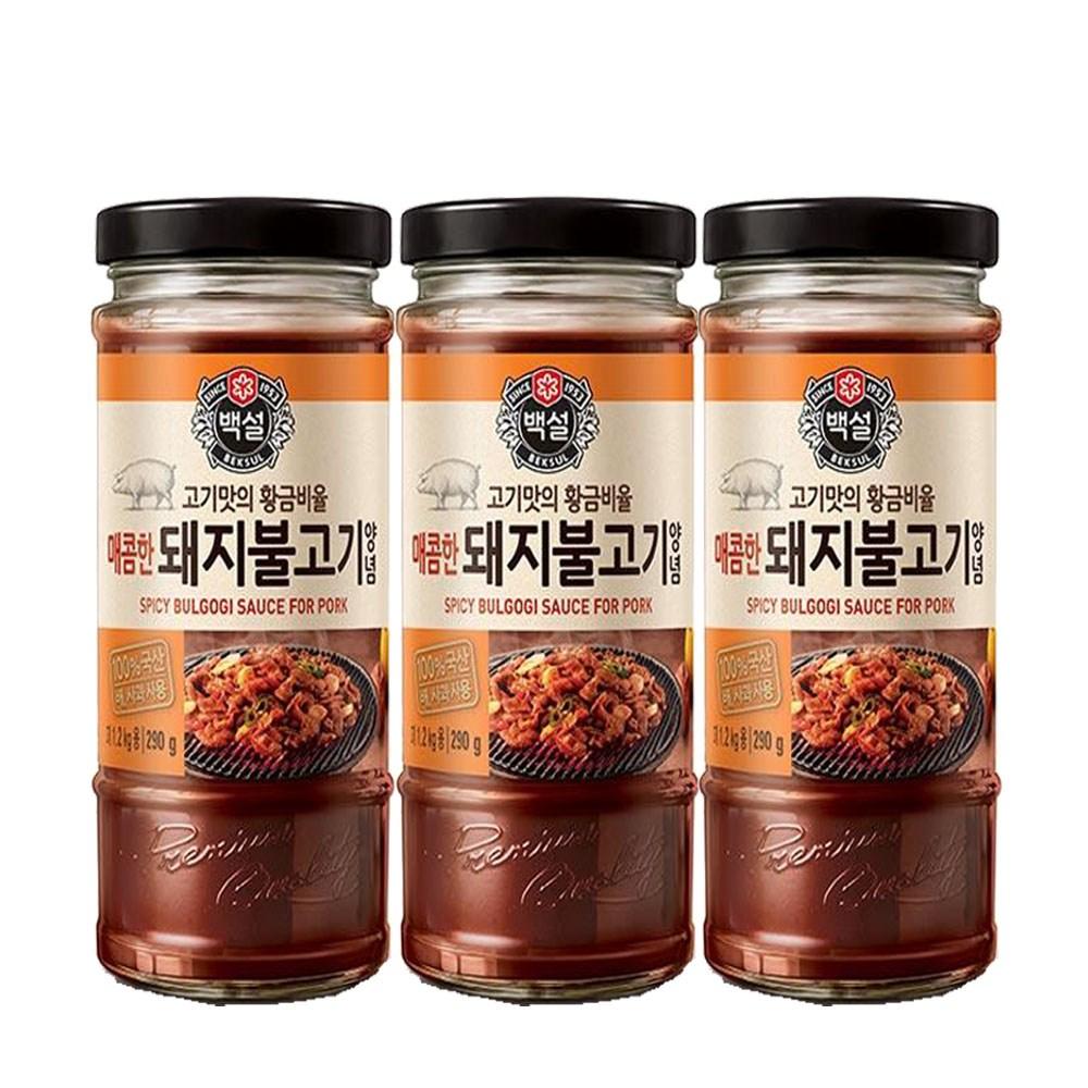 (상온)백설 매콤한 돼지불고기양념290gx3개, 1세트