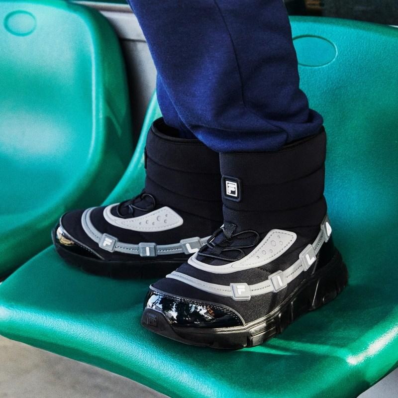 휠라키즈 꾸미부츠 3XM01318_013 블랙 (150-230) 휠라 정품 겨울 부츠