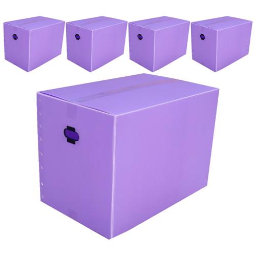 네오비 이사박스 5개묶음, 5호(600×380×430), 보라