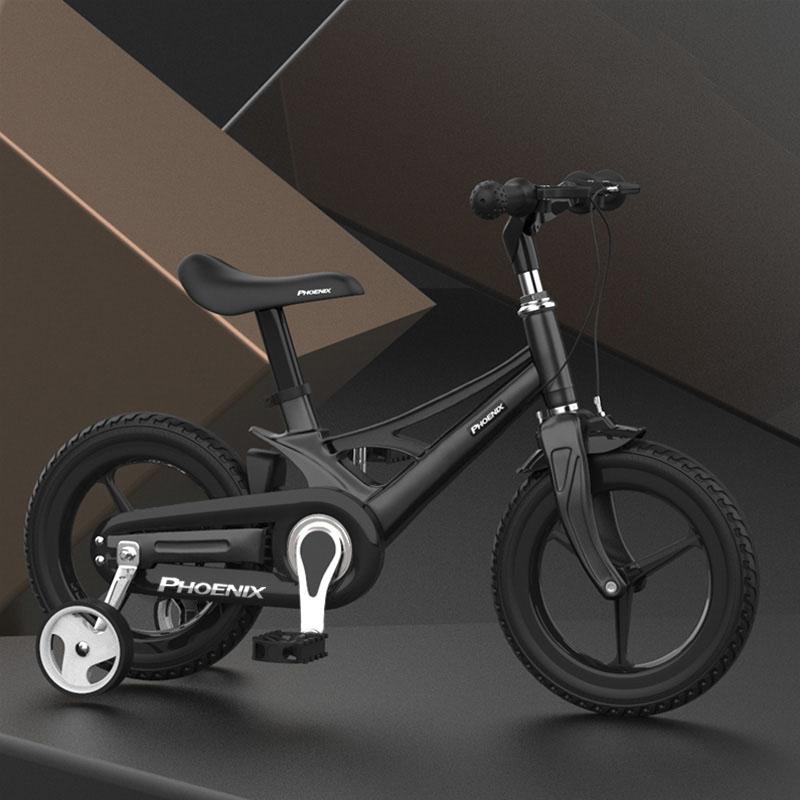 Phoenix 어린이 네발 보조비퀴체인 자전거 12인치 14인치 16인치, 블랙16인치