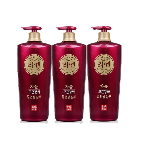 리엔 자윤 대용량 중건성샴푸 샴푸, 3개, 950ml