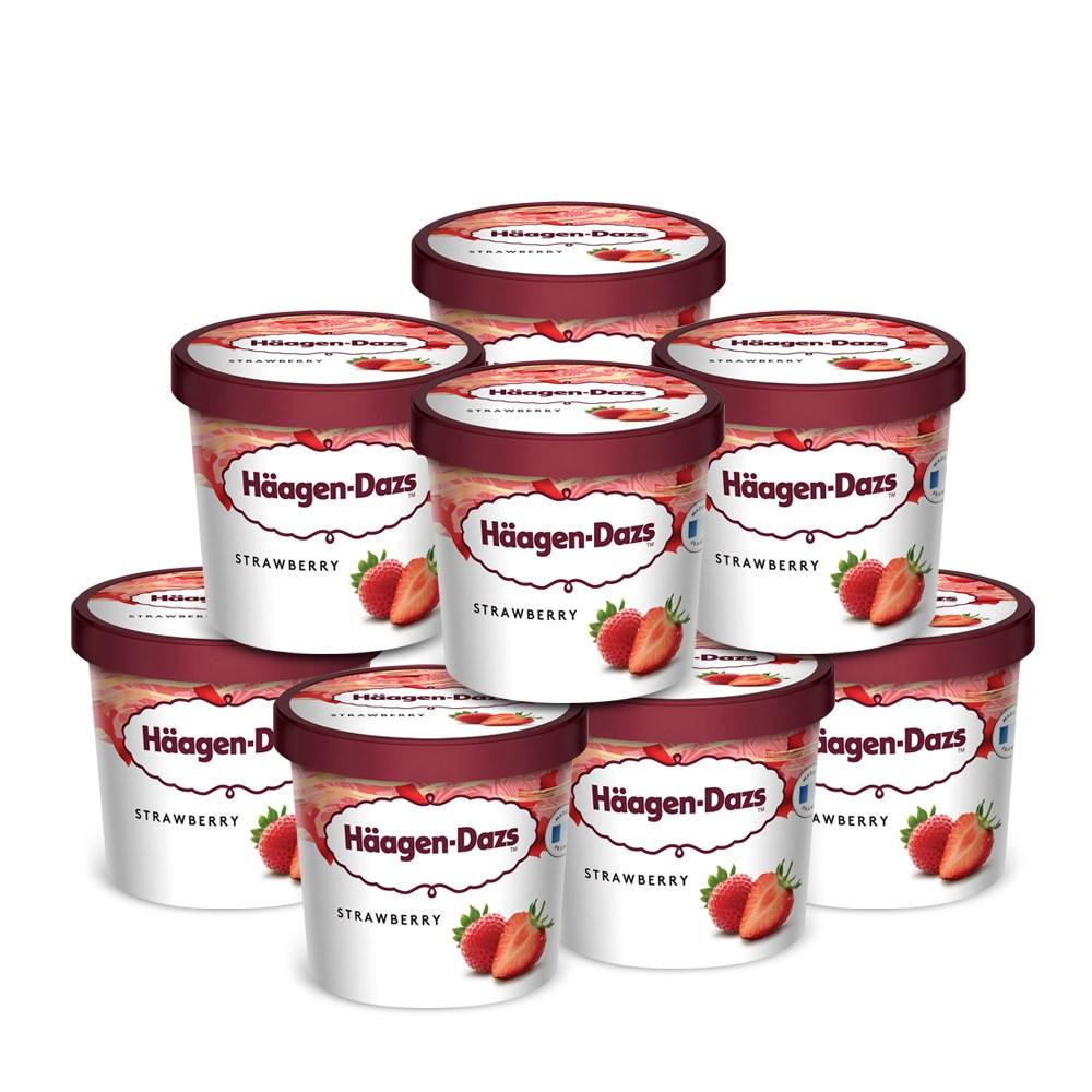 하겐다즈 미니컵 100mlx8개 딸기 아이스크림, 8개, 100ml