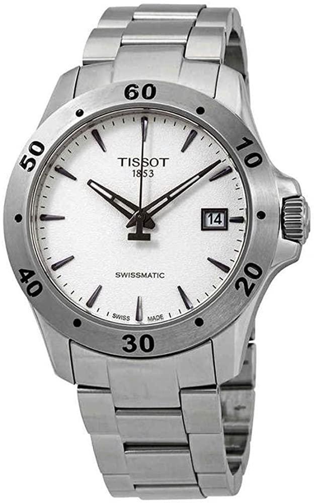 (관부가세별도) Tissot V8 Automatic Silver Dial Mens Watch T1064071103101-B079Z17FGK