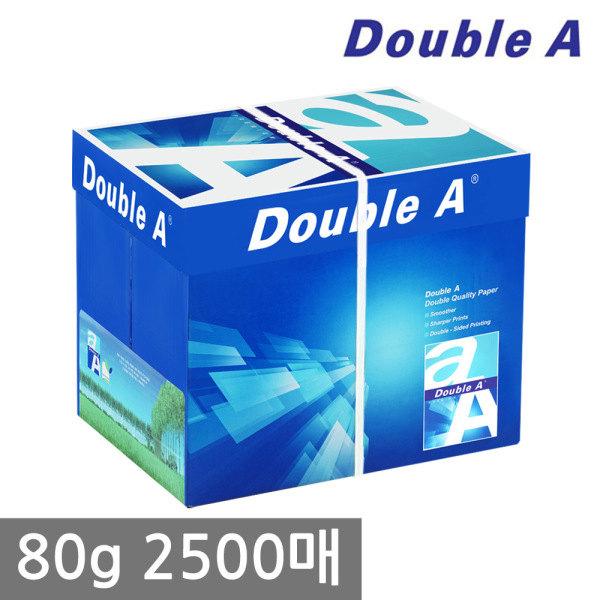 [더블에이] A4 복사용지(A4용지) 80g 2500매 1BOX